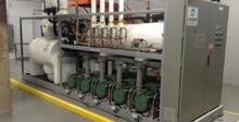 One of two CO2 refrigeration and heat recuperation module